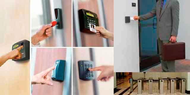 Exemplos de controle de acesso eletrônicos