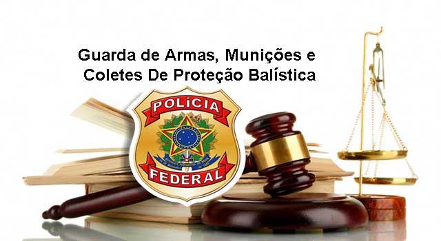 Guarda de Armas, Munições e Coletes De Proteção Balística