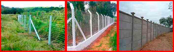 Exemplo de barreira perimetral